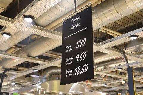 セルフ式レストラン/価格