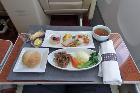 jal-firstclass-domestic-meals/洋食