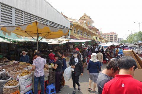 cho-lon/ビンタイ市場の露店