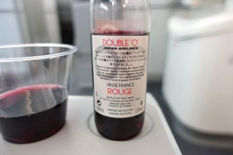 JALエコノミークラスの赤ワイン