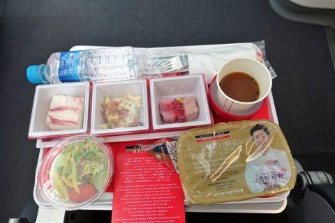 JALエコノミークラス機内食チキン