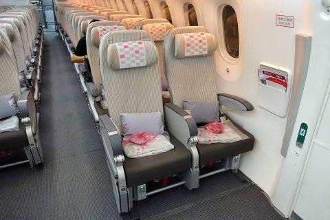 jal-787のシート48センチ