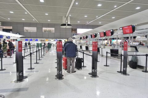 narita-emirates-airline-checkin/レーン