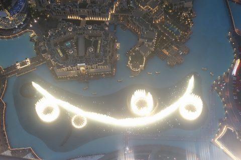 burj-khalifa/夜のドバイファウンテン