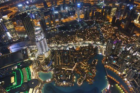 burj-khalifa/ダウンタウンの夜景