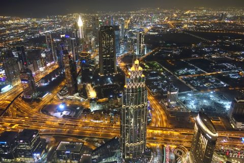 burj-khalifa/125階の夜景