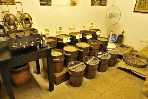 coffee-museum-dubai/コーヒー豆の展示