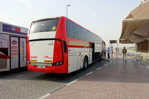 アブダビ行きバス停留所