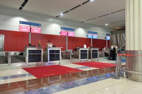 ドバイ国際空港ファーストチェックイン