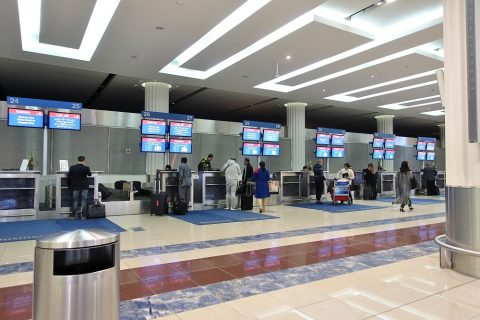ドバイ空港ビジネスクラスカウンター