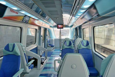 dubai-metro/ゴールドクラスの車内