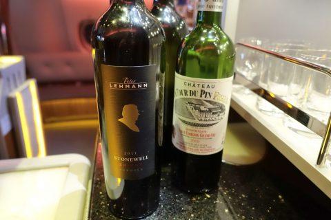 emirates-firstclass-a380/Barのワイン