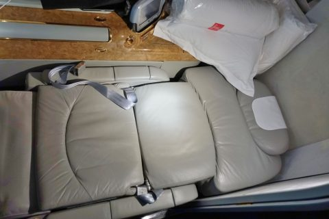 emirates-firstclass-a380/ベッドポジション