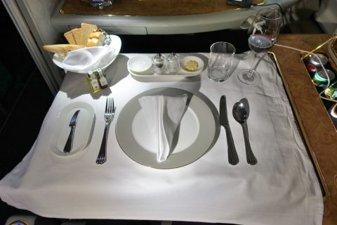 emirates-firstclass-a380/洋食のコース