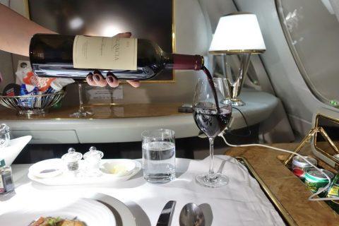 emirates-firstclass-a380/高級赤ワイン