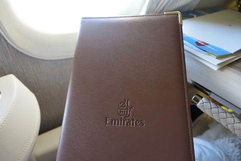 emirates-firstclass-b777-new-seat/メニュー