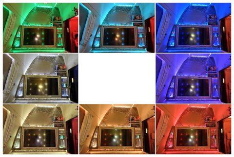 emirates-firstclass-b777-new-seat/8色の室内ライト
