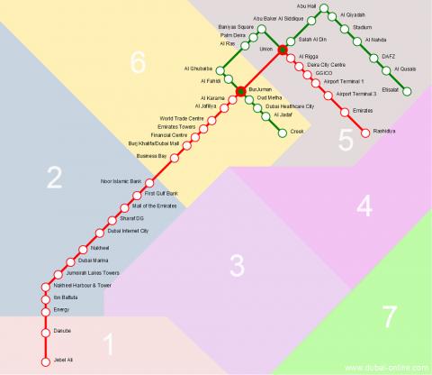 ドバイメトロの路線