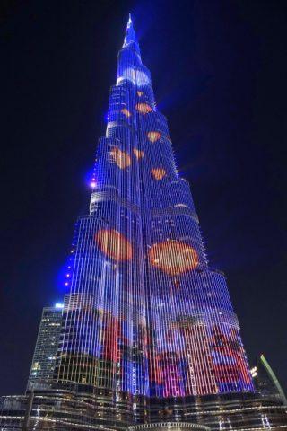 Dubai-Fountain/ブルジュカリファの映像