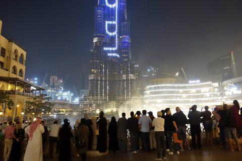 Dubai-Fountain/混雑