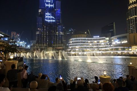 Dubai-Fountain/夜景