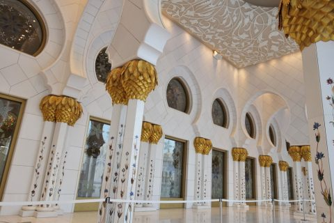 Sheikh-Zayed-Mosque/回廊の装飾