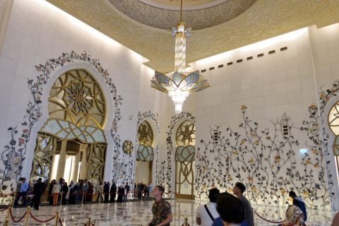 Sheikh-Zayed-Mosque/礼拝堂前のホール
