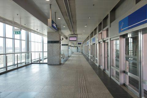 dubai-palm-monorail/プラットホーム