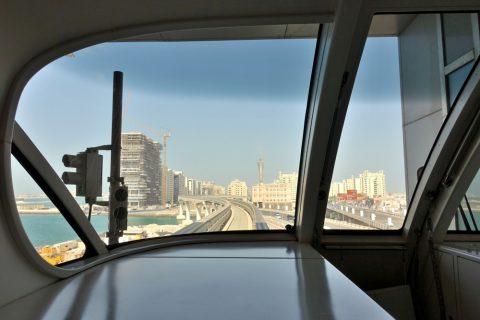 dubai-palm-monorail/先頭の景色