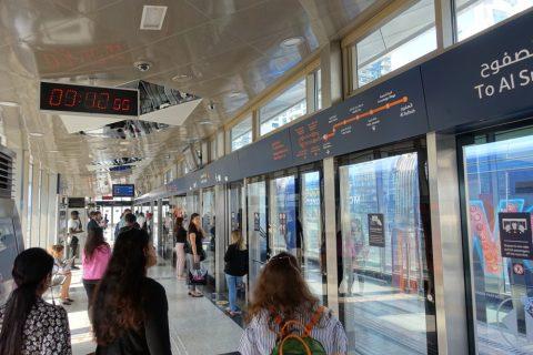 dubai-tram/プラットホーム
