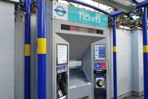 london-DLR/券売機