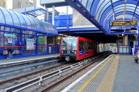 london-DLR/プラットホーム