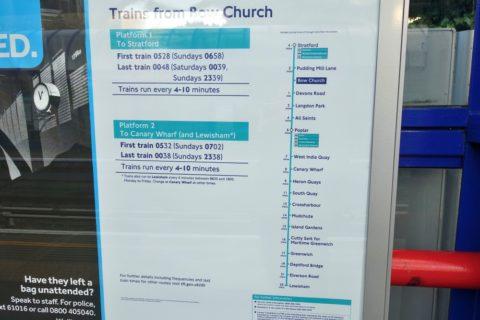 london-DLR/運行時間