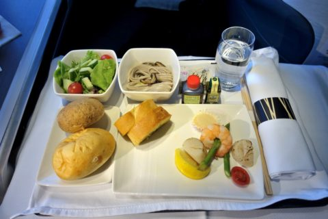 cathaypacific-businessclass-a350/機内食の前菜