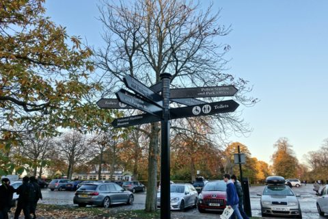 greenwich-parkの案内表示