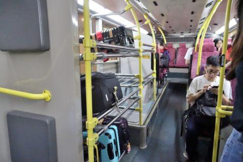 香港S1バス荷物棚