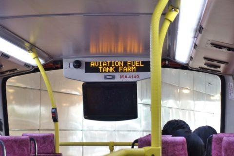 香港路線バス2階席モニター