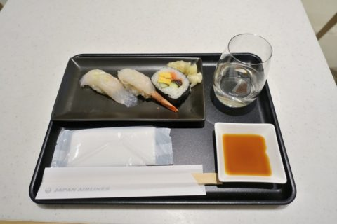 jal-firstclass-lounge-narita-4f/寿司の味