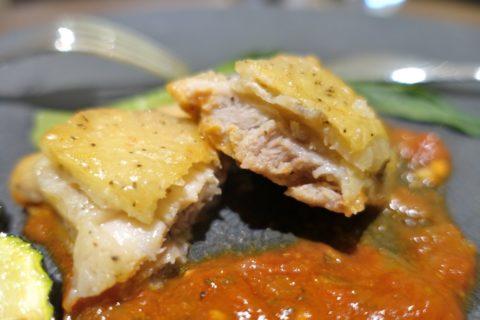jal-firstclass-lounge-narita-4f/鶏肉の味