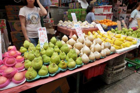 mongkok-market-hongkong/ラフランスとココナッツ