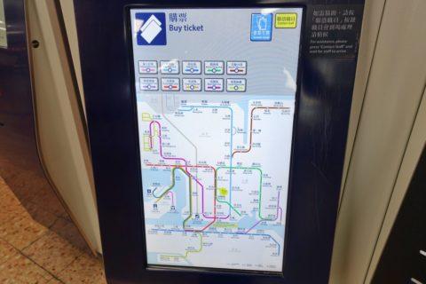 octopus-hongkong-mtr/ディスプレイの路線図
