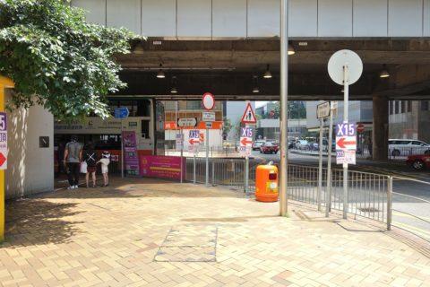 X15バス乗り場へのアクセス