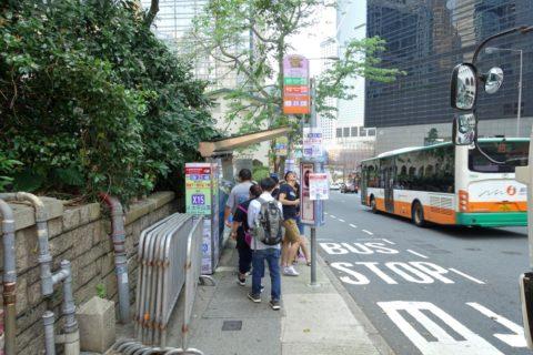 香港バス停
