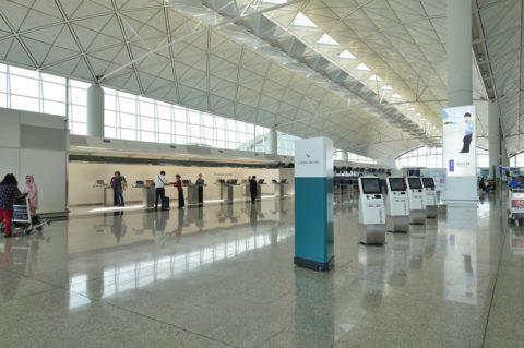 香港空港Bカウンター