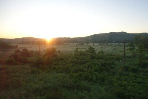 オケアン号から見る朝日