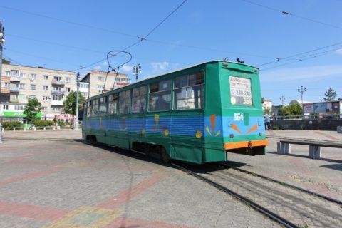 khabarovsk-bus-tram/旧式トラム