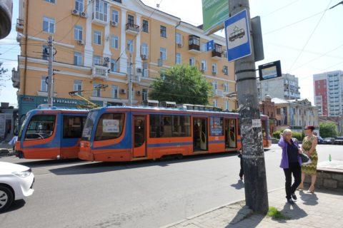 ハバロフスクのトラム停留所