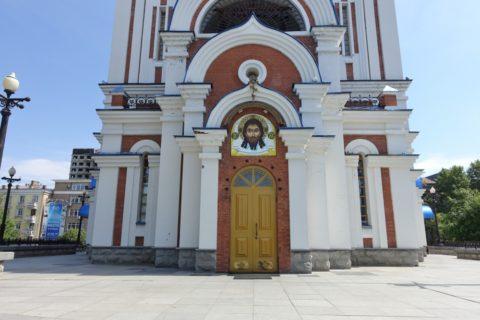 ハバロフスク/ウスペンスキー教会の出入り口
