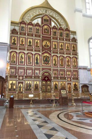 スパソ・プレオブランジェスキー教会の祭壇