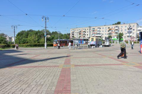 ハバロフスク駅前トラム乗り場
